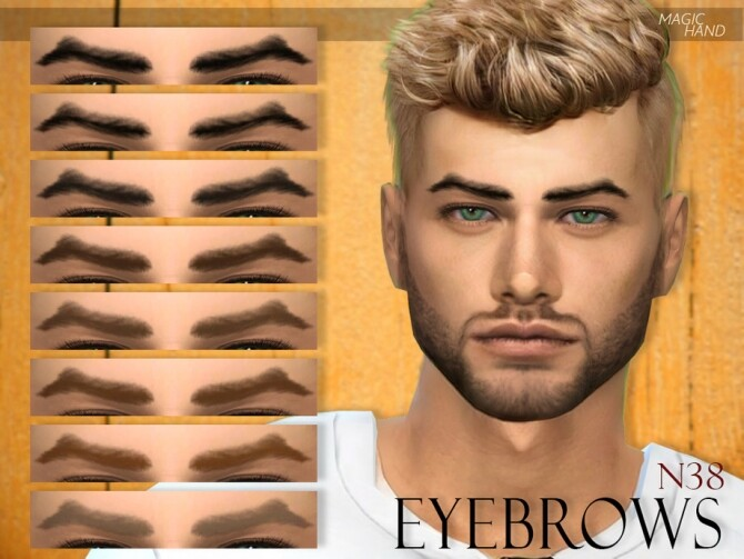 Sims 4 Eyebrows N38 by MagicHand at TSR