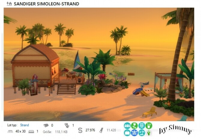 Sims 4 Simoleon Strand by Simmy at All 4 Sims