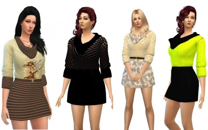 Sims 4 Season dress at Louisa Creations4Sims