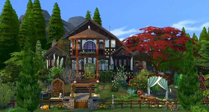 Sims 4 Chesnut home by meliaone at L'UniverSims