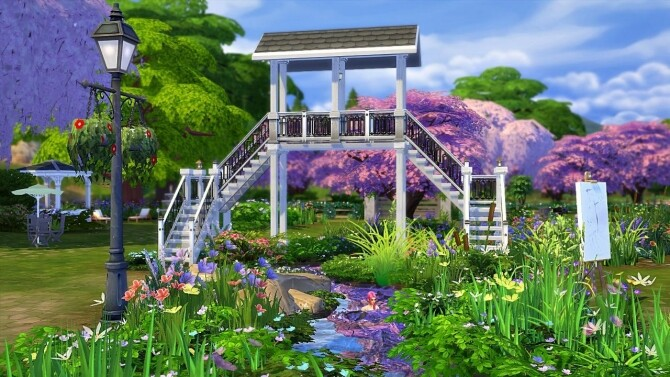 Cherry blossom park by Sirhc59 at L'UniverSims image 23111 670x377 Sims 4 Updates