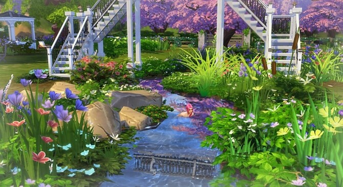 Cherry blossom park by Sirhc59 at L'UniverSims image 23211 670x366 Sims 4 Updates