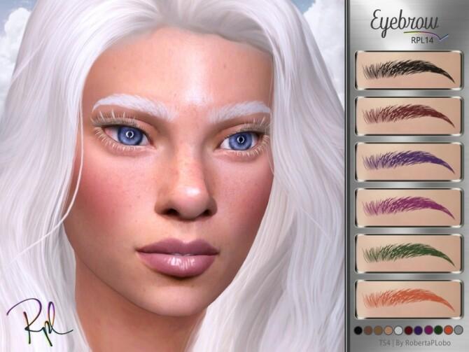 Sims 4 Eyebrow RPL14 by RobertaPLobo at TSR