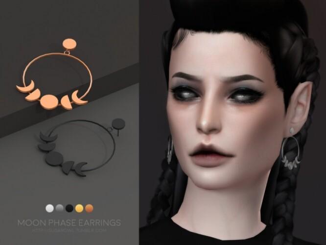 Moon Phase earrings Simblreen 2020 by sugar owl