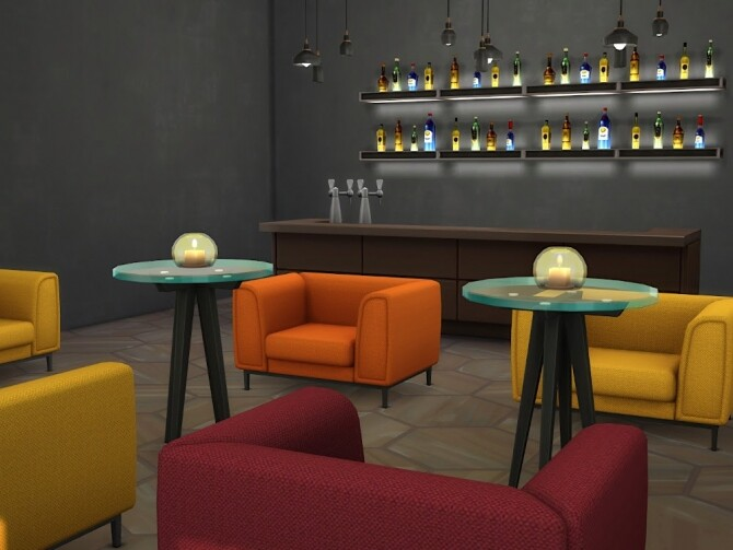 Sims 4 Restaurant Simemo at KyriaT's Sims 4 World