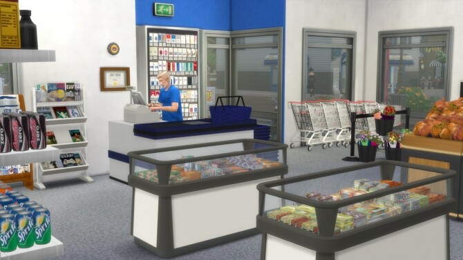 Sims 4 Rema 1000 Grocery Store at Alial Sim