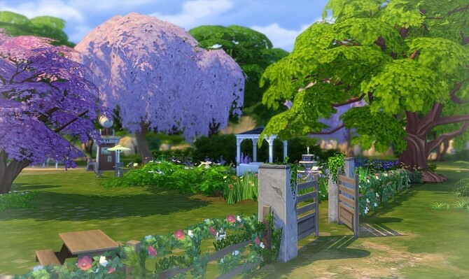 Cherry blossom park by Sirhc59 at L'UniverSims image 2337 670x399 Sims 4 Updates