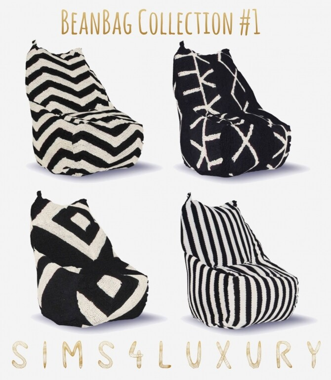 Sims 4 BeanBag Collection #1 at Sims4 Luxury