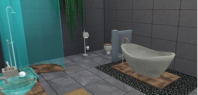 Sims 4 Diane Bathroom Set at LIZZY SIMS