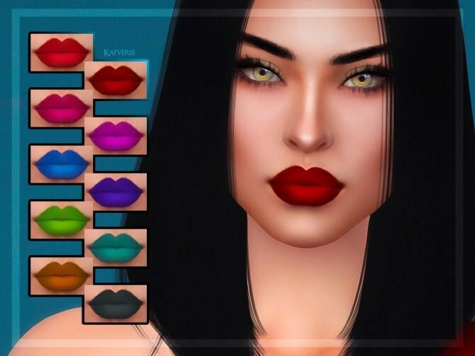 Sims 4 Raven Lipstick at Katverse