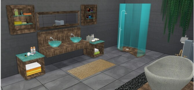 Diane Bathroom Set at LIZZY SIMS image 2394 670x311 Sims 4 Updates