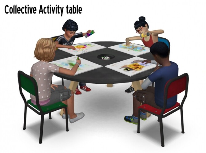 Sims 4 TV tray table, collective activity table & more at Around the Sims 4