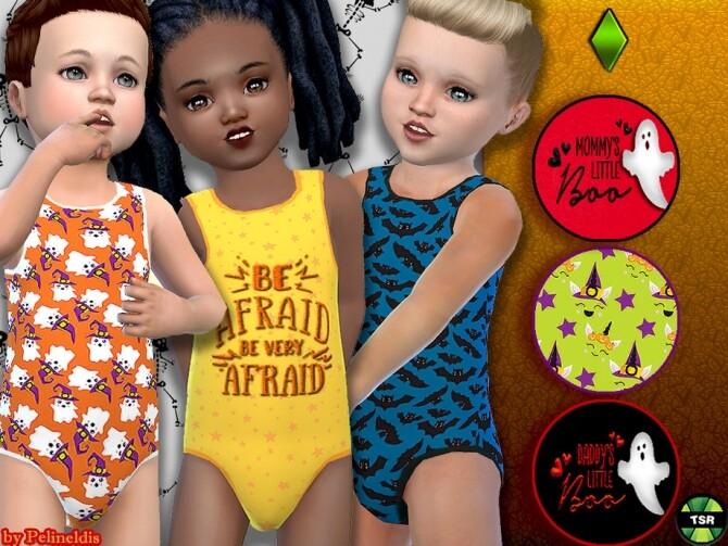Sims 4 Toddler Halloween Bodyvest by Pelineldis at TSR