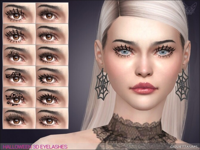 Halloween 3D Eyelashes at Giulietta image 2501 670x503 Sims 4 Updates