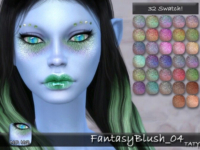 Fantasy Blush 04 by tatygagg at TSR image 2528 670x503 Sims 4 Updates