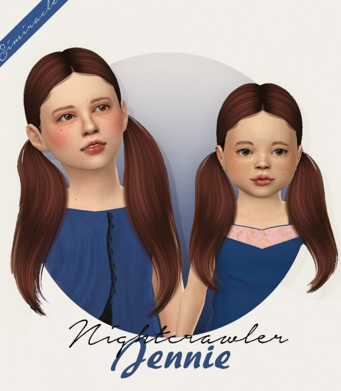 Sims 4 NightCrawler Jennie Hair for kids & toddlers at Simiracle