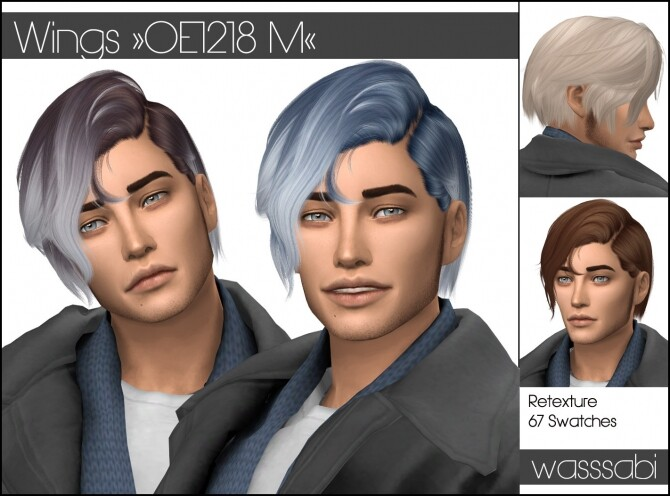 Wings OE1218 M hair retextured at Wasssabi Sims image 258 670x496 Sims 4 Updates
