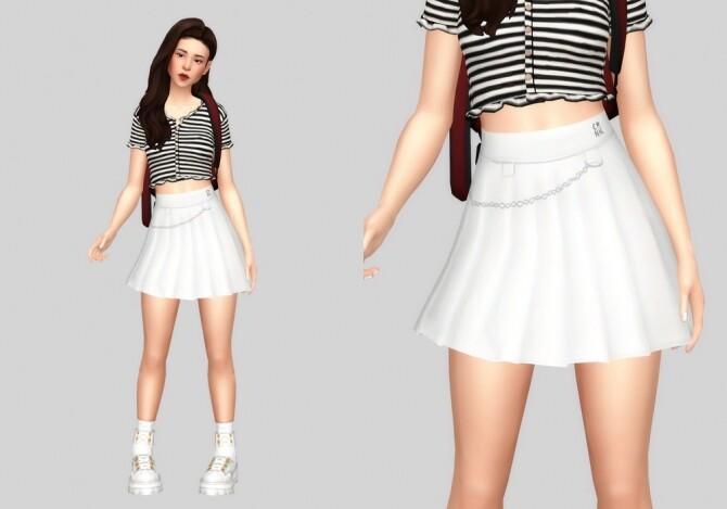 Sims 4 Tennis chain skirt at Casteru