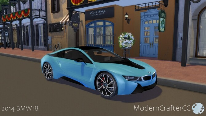 Sims 4 2014 BMW i8 at Modern Crafter CC