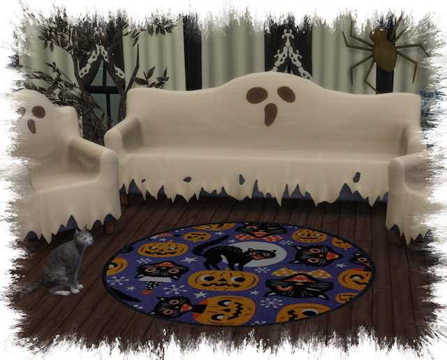 Sims 4 Halloween 2020 round rugs by Chalipo at All 4 Sims