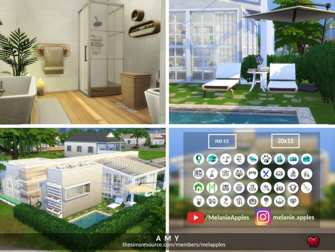 Sims 4 Amy house by melapples at TSR