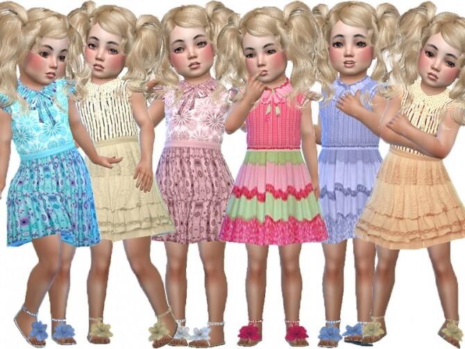 Sims 4 Liza toddler dress by TrudieOpp at TSR