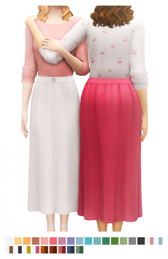 Sims 4 Elena Dress at Sims4Nicole