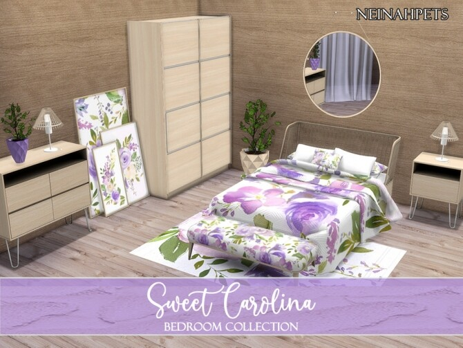 Sweet Carolina Bedroom by neinahpets at TSR image 271 670x503 Sims 4 Updates
