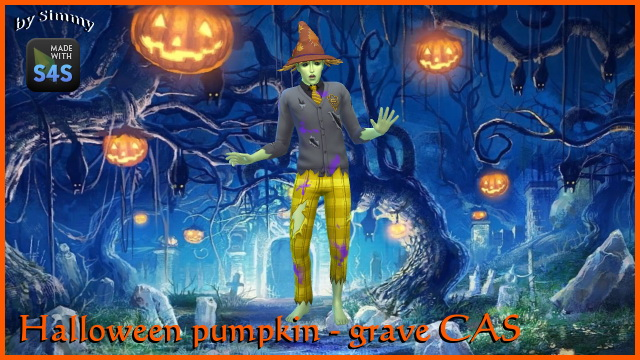 Sims 4 Two Halloween CAS backgrounds by Simmy at All 4 Sims