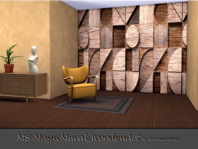 MB Magic Mural Wooden Art by matomibotaki at TSR image 2714 670x503 Sims 4 Updates