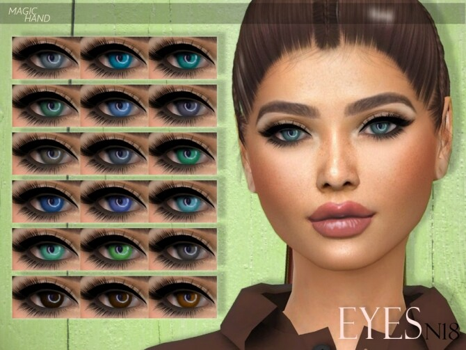 Sims 4 Eyes N18 by MagicHand at TSR