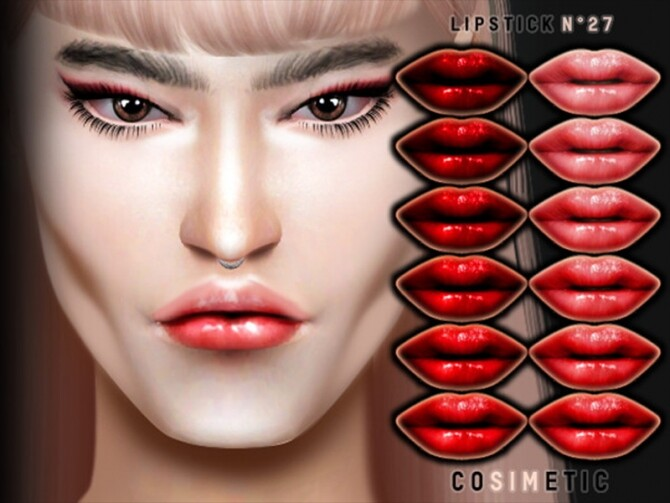 Lipstick N27 by cosimetic at TSR image 2726 670x503 Sims 4 Updates