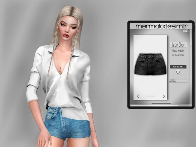 Sims 4 Jean Short MC75 by mermaladesimtr at TSR
