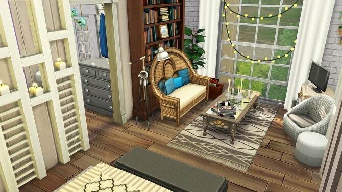 Sims 4 TRANQUIL TINY LAKEHOUSE at Aveline Sims