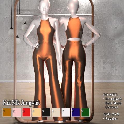 Sims 4 Kat Silk Jumpsuit at KM