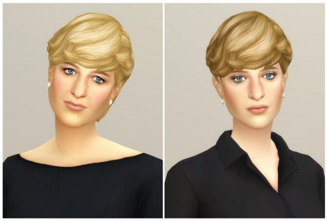Sims 4 Diana Hair II at Rusty Nail