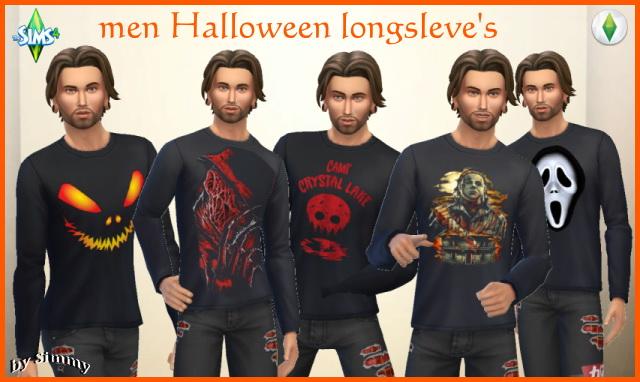 Halloween men longsleve top by Simmy