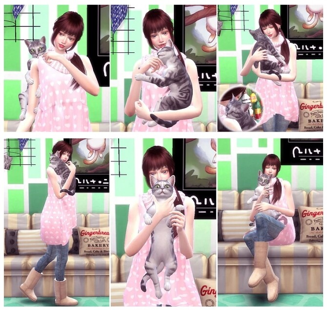 Me & Cat Pose Pack 2 at A luckyday image 277 670x634 Sims 4 Updates