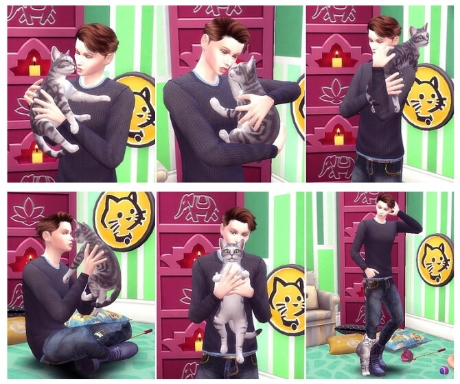 Me & Cat Pose Pack 2 at A luckyday image 278 670x560 Sims 4 Updates