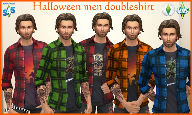 Halloween open shirt for men by Simmy