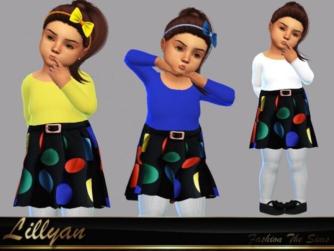 Sims 4 Dress Laisla baby by LYLLYAN at TSR
