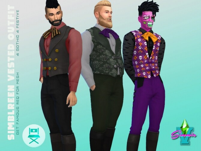 Sims 4 Simblreen Vested Outfit by SimmieV at TSR