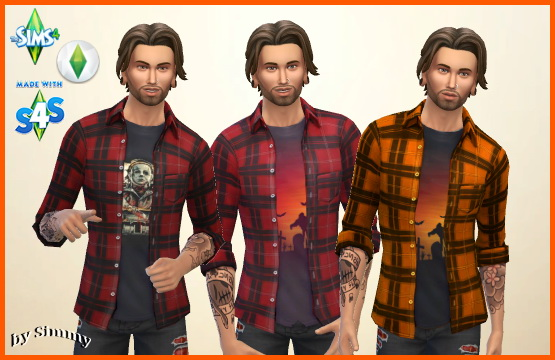 Sims 4 Halloween open shirt for men by Simmy at All 4 Sims