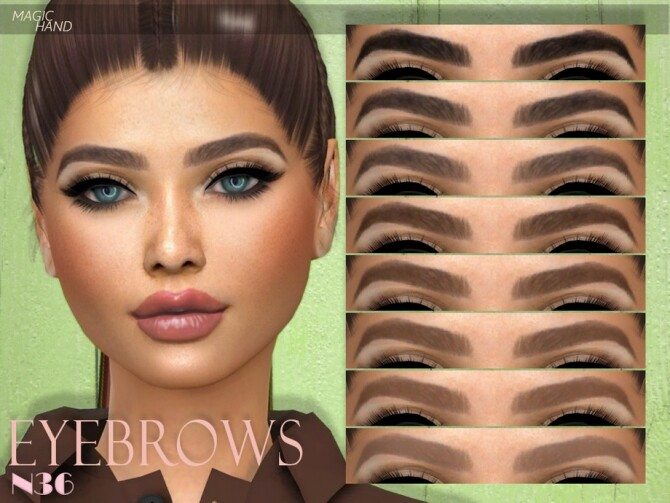 Sims 4 Eyebrows N36 by MagicHand at TSR