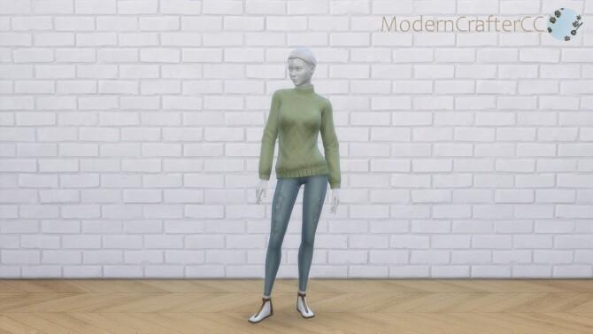 Sims 4 High Collar Sweater Recolour at Modern Crafter CC