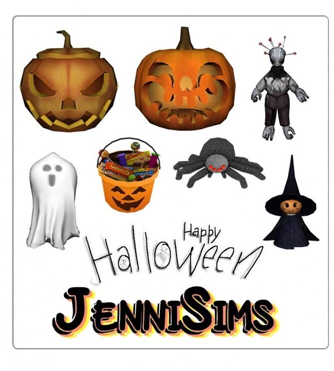 Sims 4 DECORATIVE HALLOWEEN Grab Your Broom 7 ITEMS at Jenni Sims