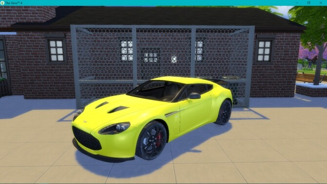 Aston Martin V12 Zagato at LorySims image 2902 670x377 Sims 4 Updates