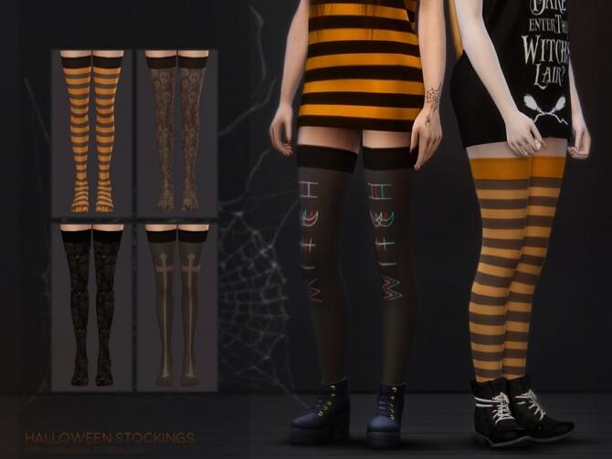 Sims 4 Halloween stockings Simblreen 2020 by sugar owl at TSR