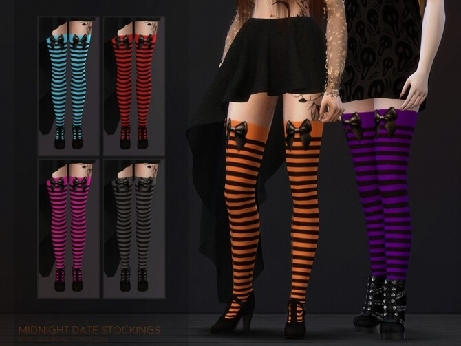 Sims 4 Midnight Date stockings Simblreen 2020 by sugar owl at TSR