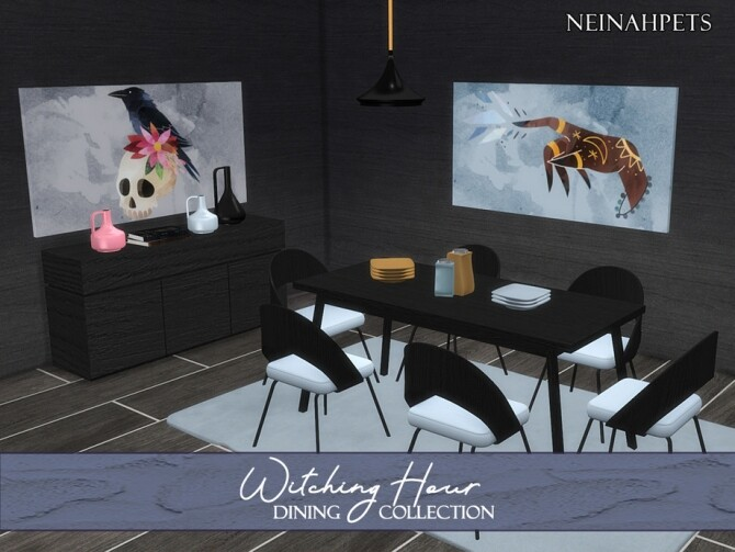 Sims 4 Witching Hour Dining by neinahpets at TSR
